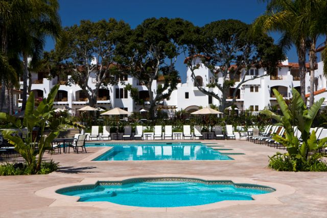 """La Costa Resort & Spa (Carlsbad):  Bring the kids and leave them at the kiddie pool with slides while you slink off to the grown-up """"Garden Pool"""" surrounded by flora and fauna."""