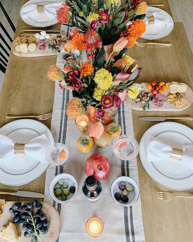Fall Tablescapes / Autumn Bounty Overhead