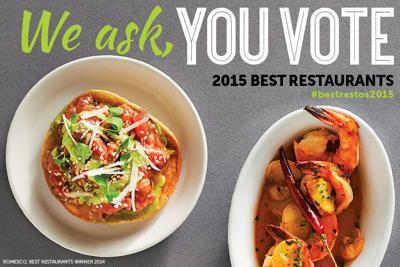 Vote now: Best Restaurants 2015