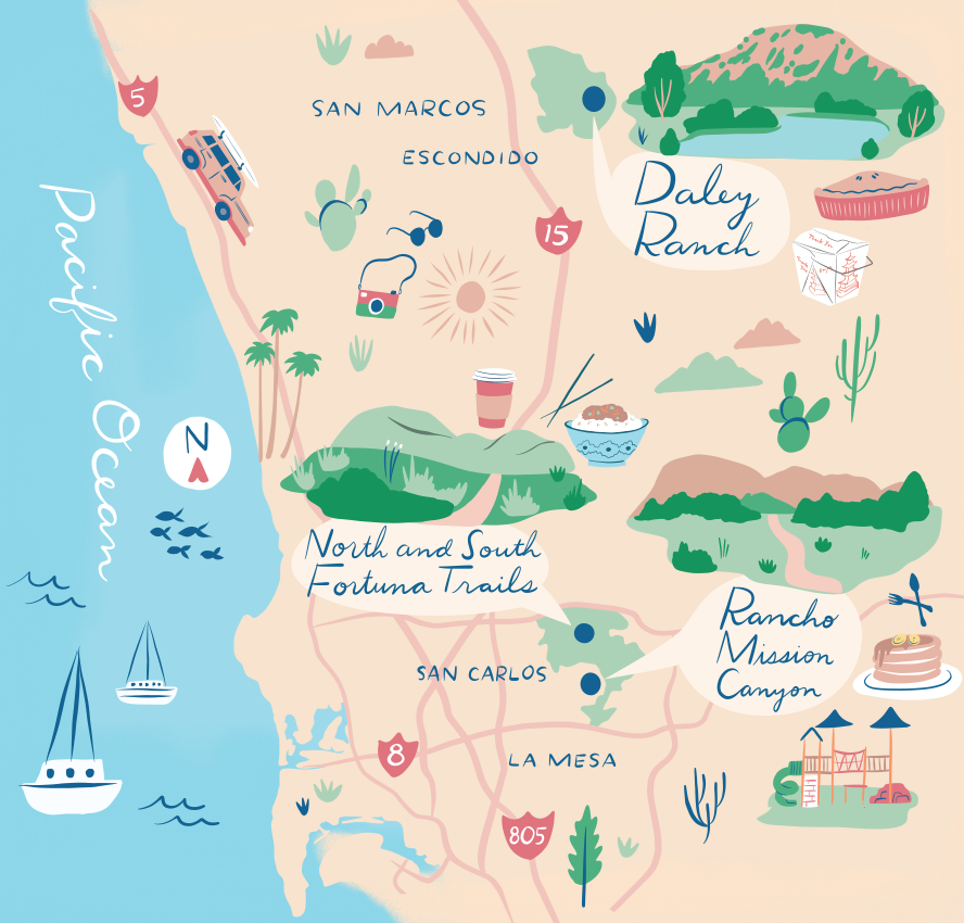 Morning Hikes / Illustration