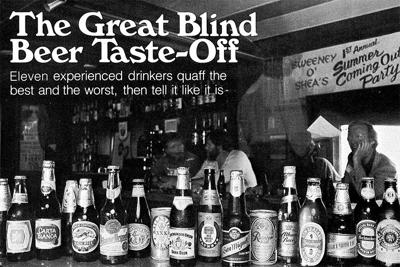 From the Archives: The Great Blind Beer Taste-Off in 1981