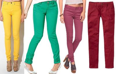 Trend Alert: Colored Jeans