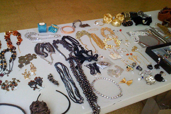 Stylist Cecilia Church brought plenty of bling for the fall fashion shoot for our September issue.