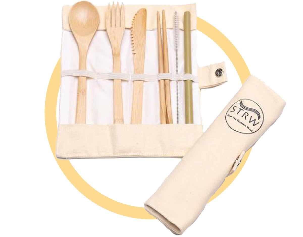 Sustainable Swaps / Bamboo cutlery set