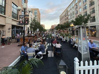 Sidewalk and Street Dining Gaslamp Quarter
