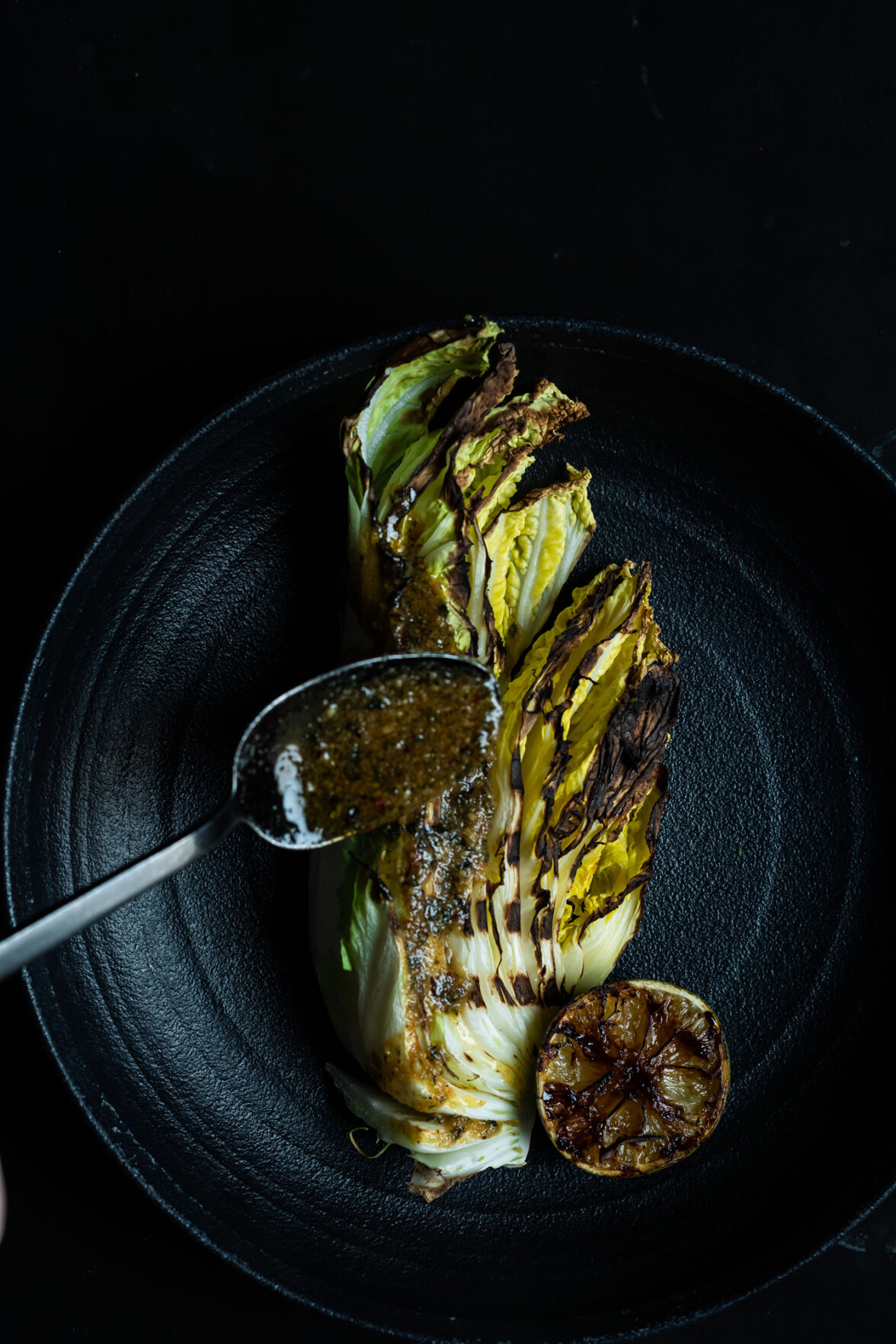 Coal-Roasted Cabbage