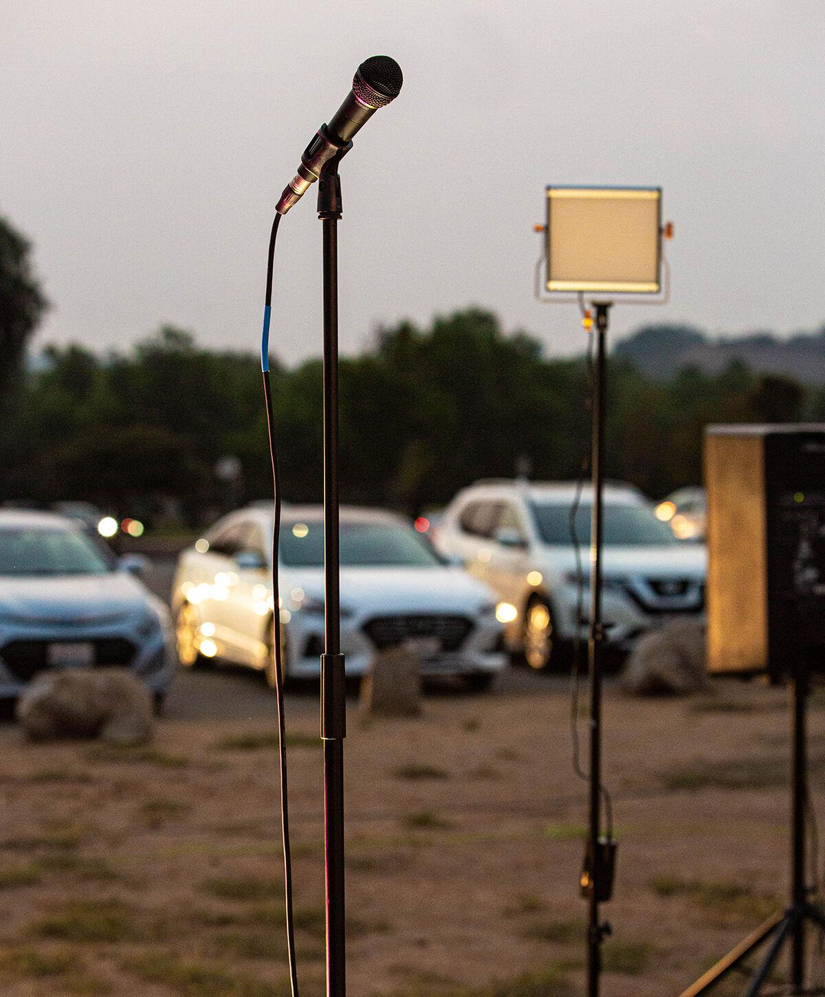 Drive-Up Comedy / Microphone Stand