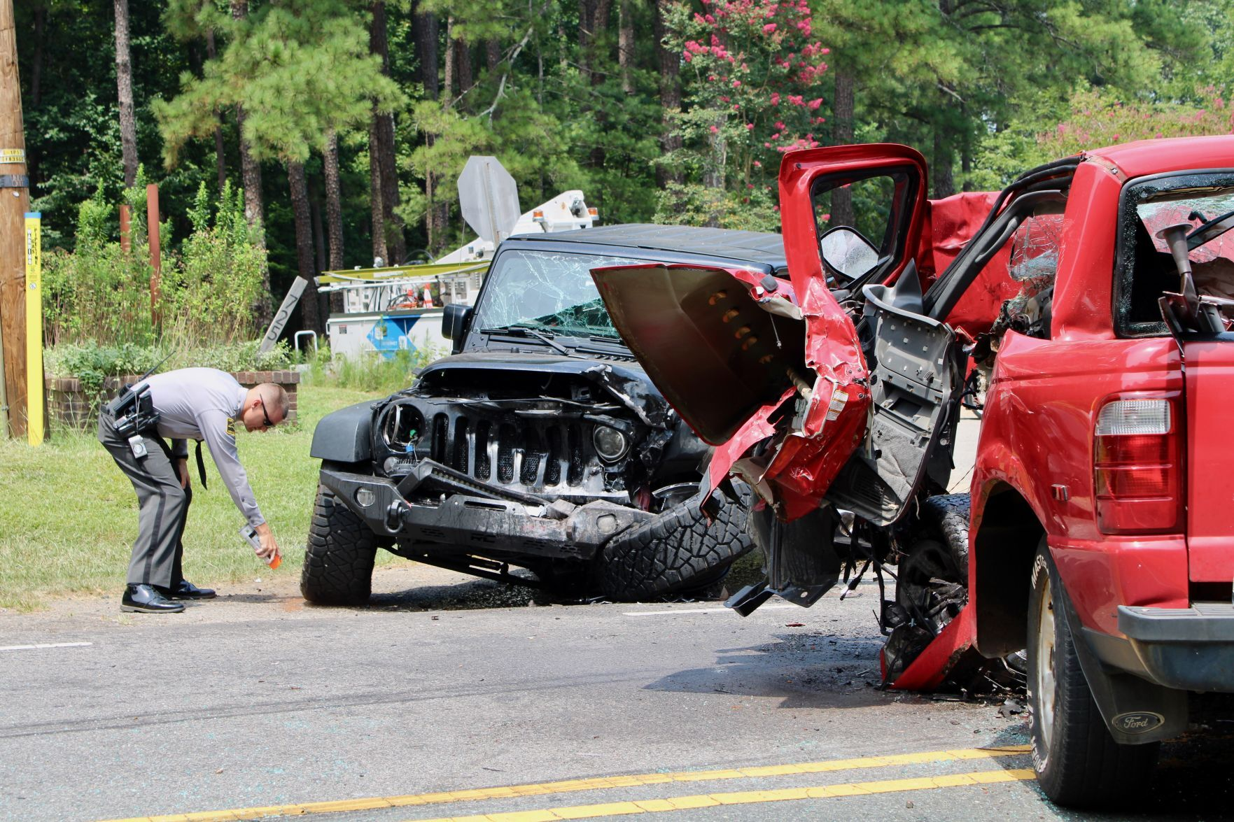 Head-on collision on Colon Road