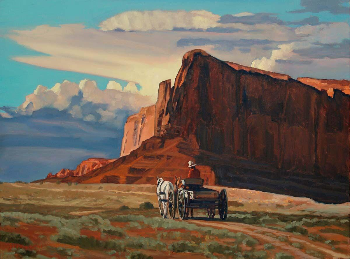 For the love of the West: Dennis Ziemienski's nostalgic landscapes