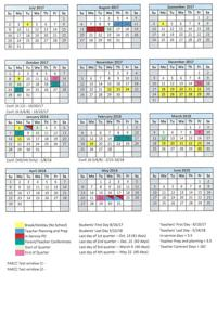 2017 18 School Year Calendar For Santa Fe Public Schools