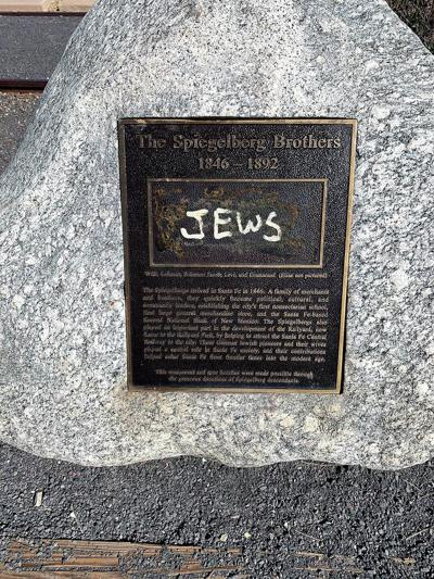 Plaque vandalized in Railyard Park amid surge of anti-Semitic incidents in N.M., nationally