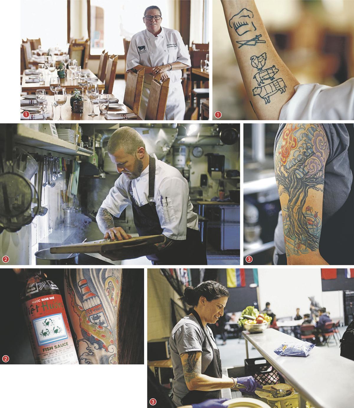 Tatted restaurant workers