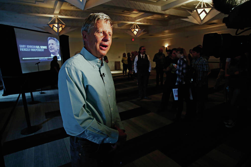 For Gary Johnson, unpredictable is the pitch
