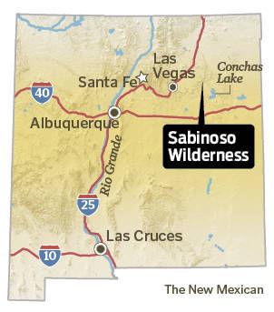 Sabinoso Wilderness location map