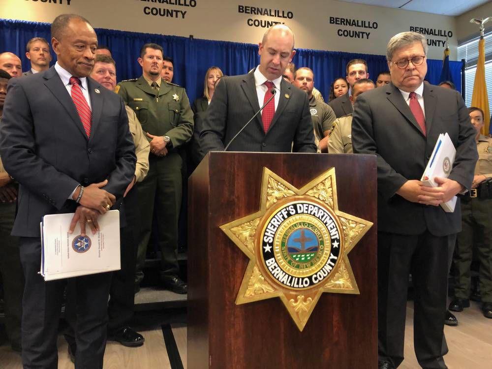 U.S. Attorney General Barr touts crime-fighting initiative in New Mexico