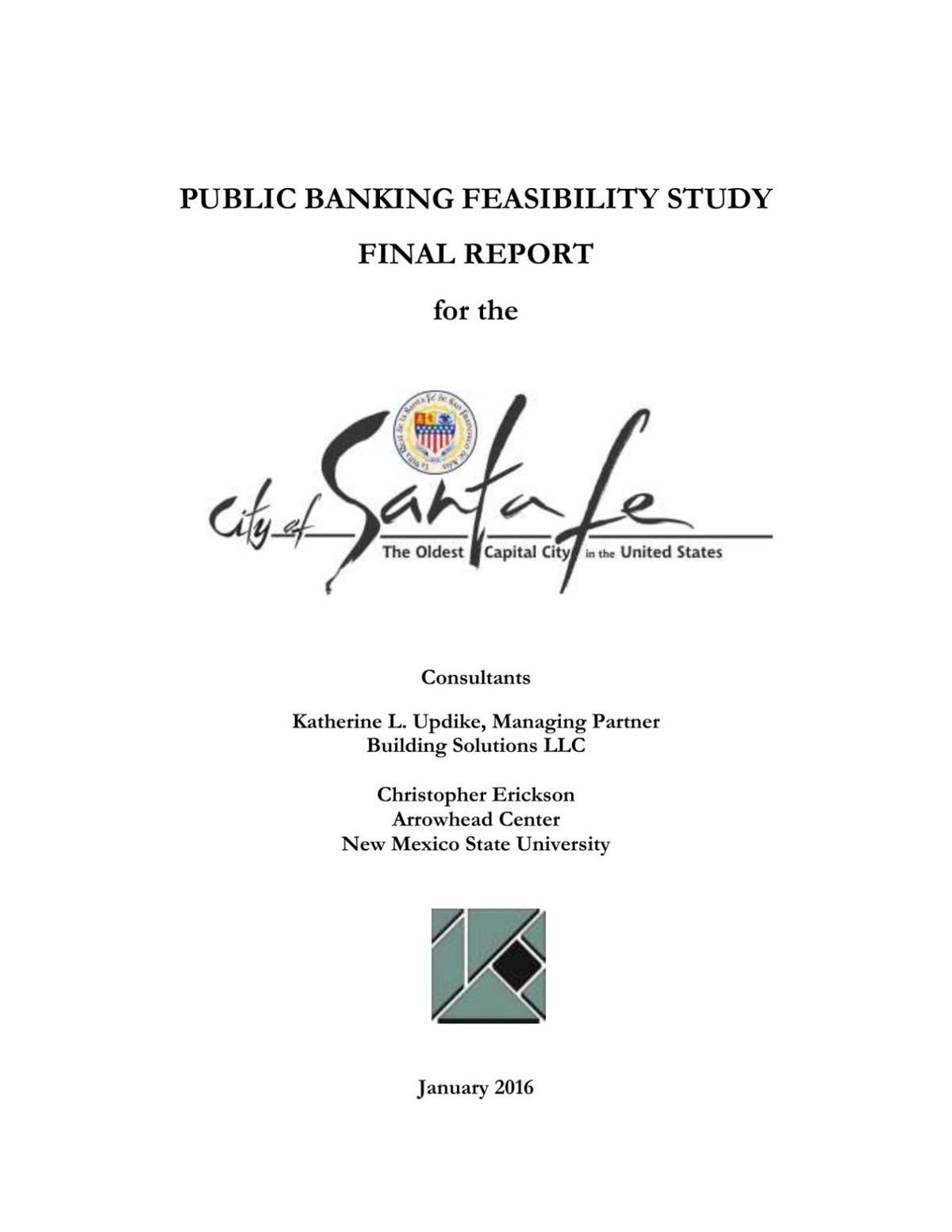 Final Report on Public Banking