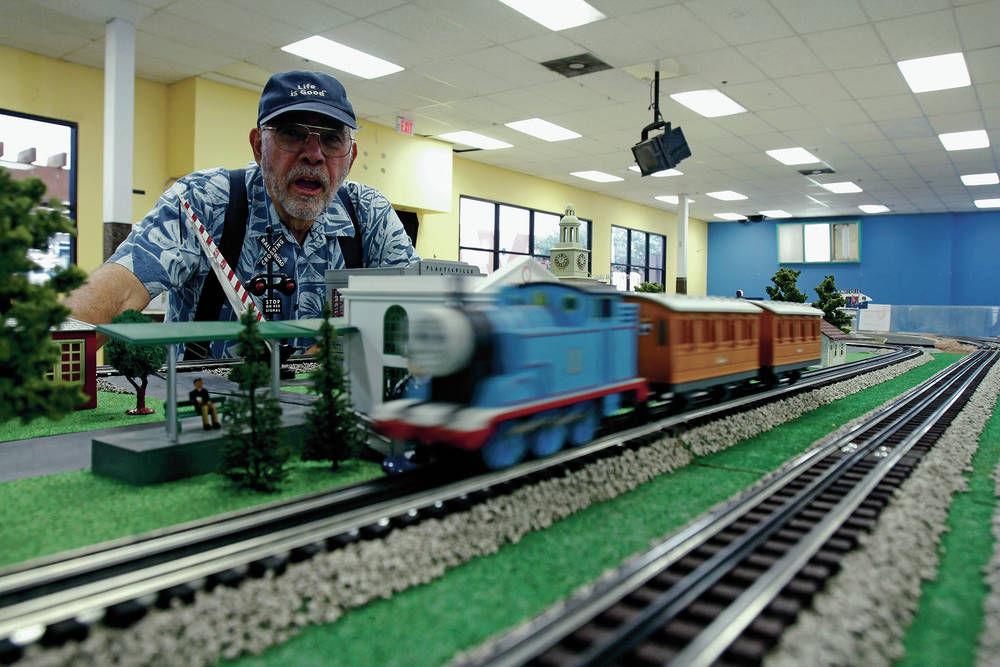 model trains chug along at show local news santafenewmexican com rh santafenewmexican com