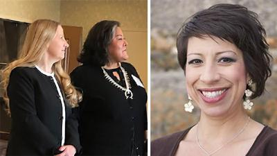 Catherine Begaye and Cynthia Chavers