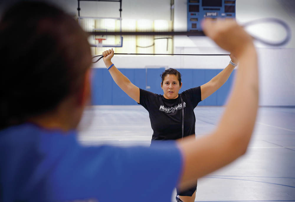 Conditioning clinic gives young female athletes new look at fitness, expanding skills