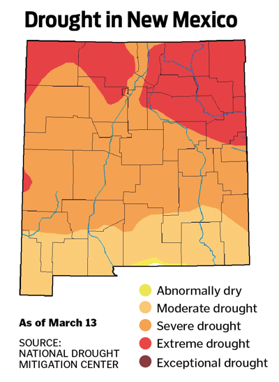 March 2018 drought map