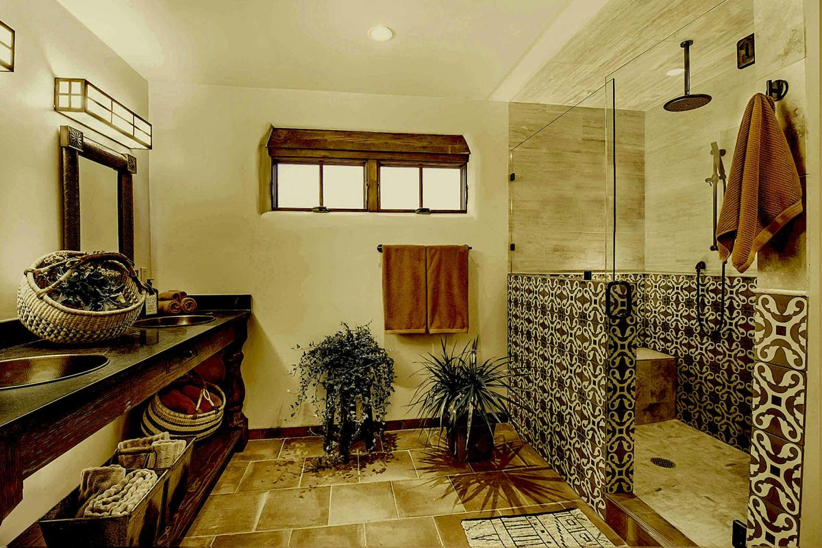 Spanish rustic bath