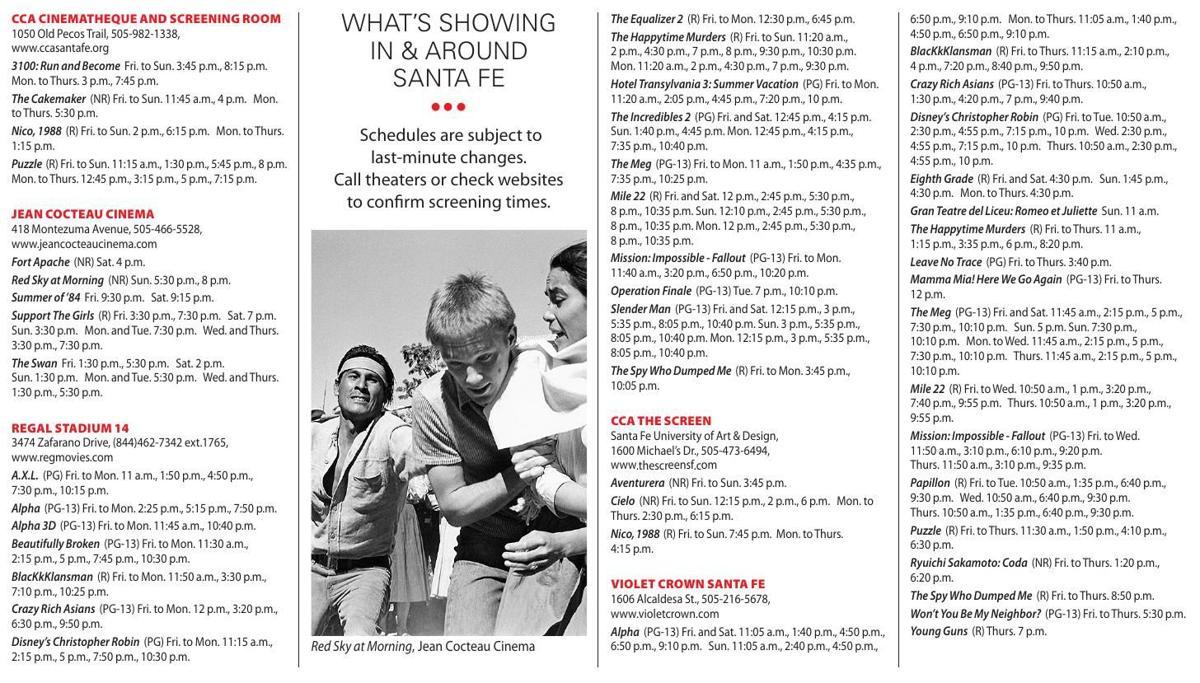 Aug 24 30 Show Times Chile Reviews Santafenewmexicancom