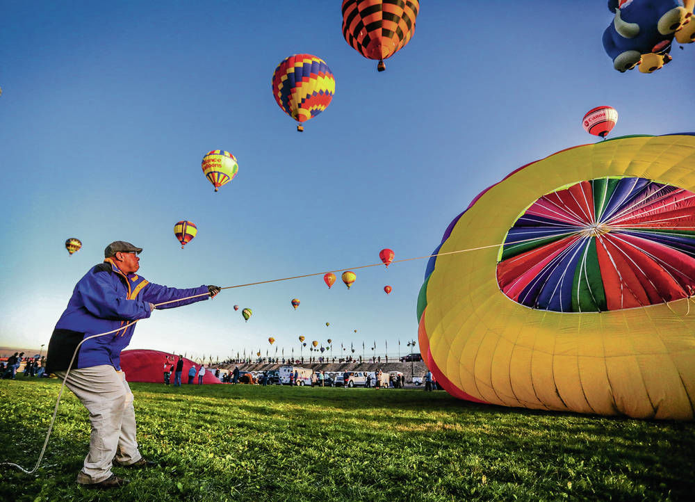 Fall colors at Balloon Fiesta Park