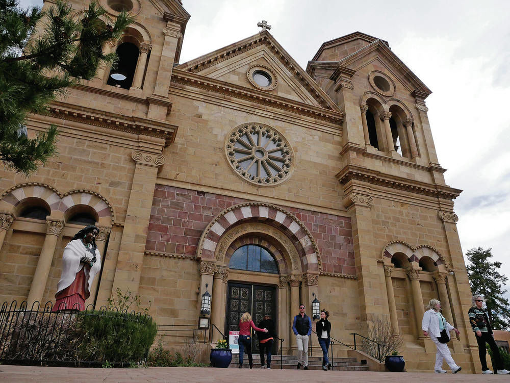 Santa Fe firefighters prepared if cathedral burns; roof fire 33 years ago quickly extinguished