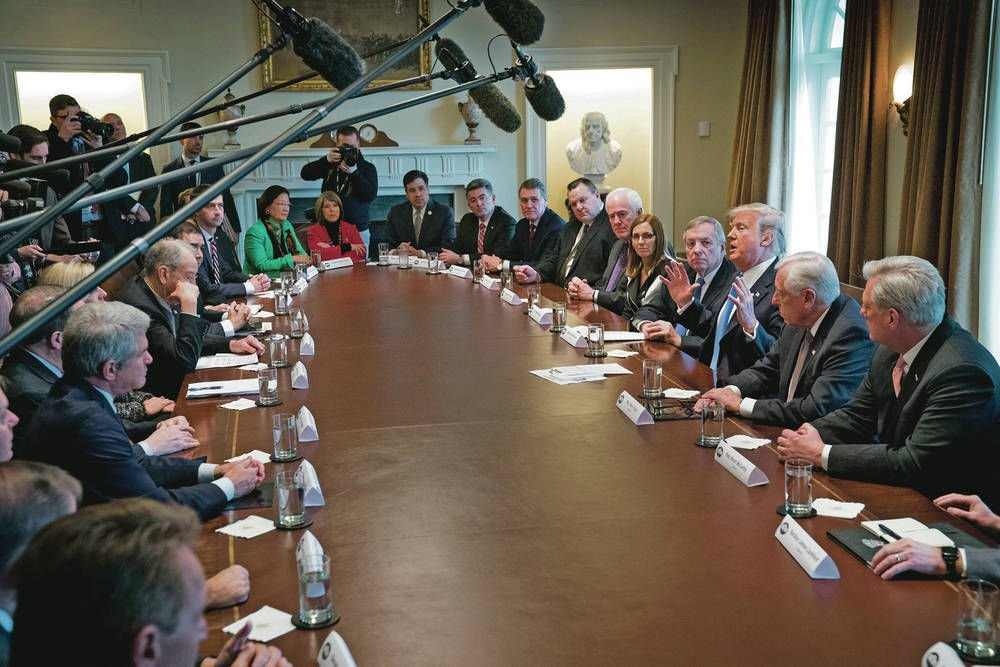 Lujan Grisham crashes Trump meeting on immigration reform