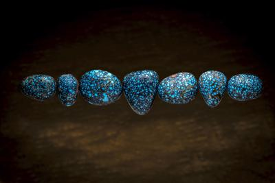 Blue stones smiling at me