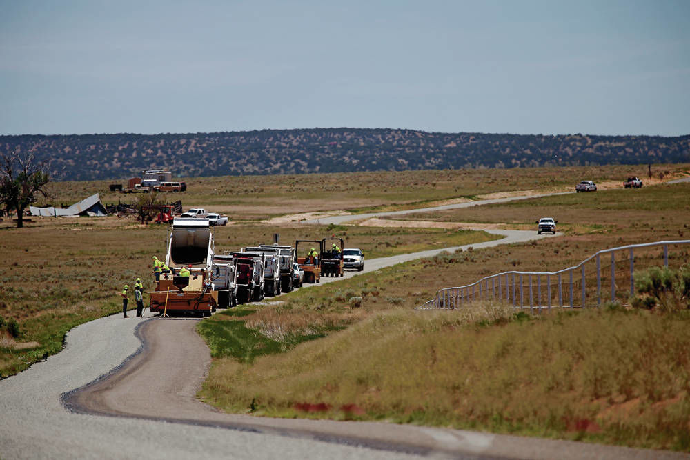 Work on remote Santa Fe County road raises questions
