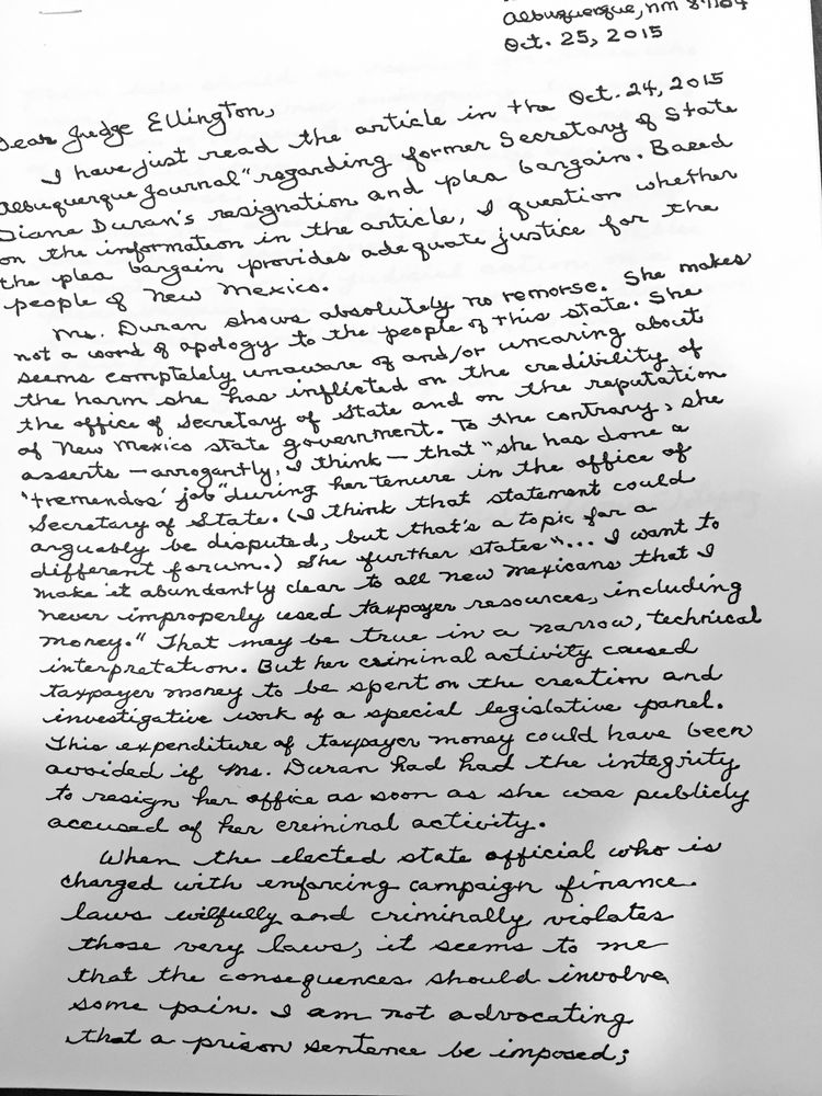 Rep pearce writes letter to judge urging leniency at duran pearce writes letter to judge urging leniency at duran sentencing local news santafenewmexican spiritdancerdesigns Image collections