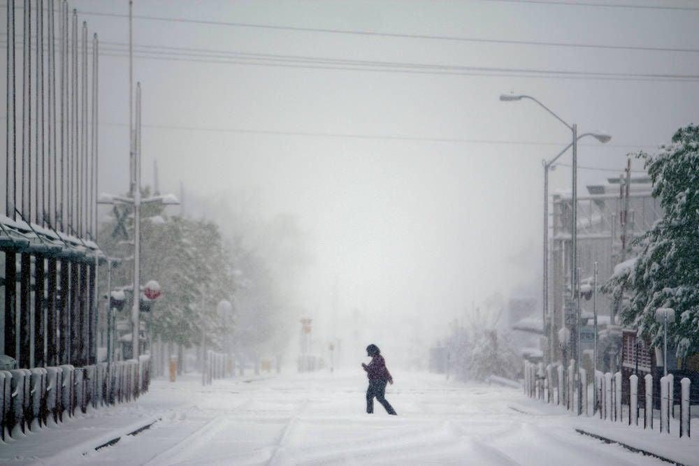 April shower brings largest snowfall of season