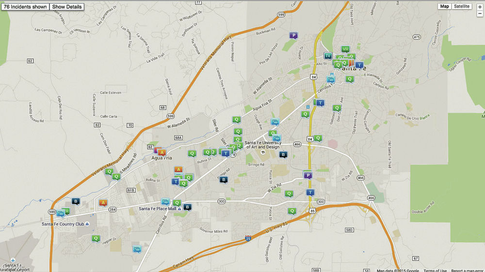 New Santa Fe crime maps may soon be on citys website Local News