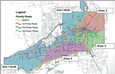 City of Santa Fe map details snow removal plans | Local News ... Sante Fe Map on