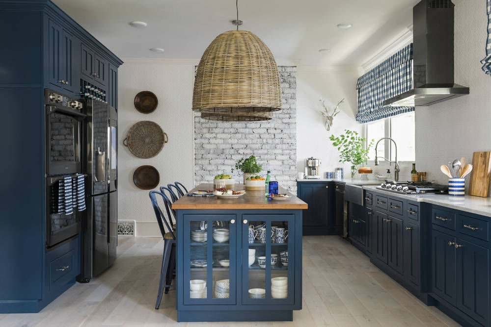 Bold Color On Kitchen Cabinets Is A