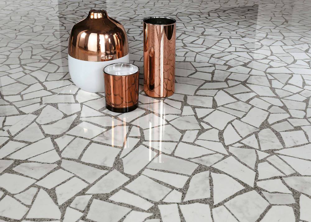 Terrazzo — the stuff of old hallway flooring — goes upscale
