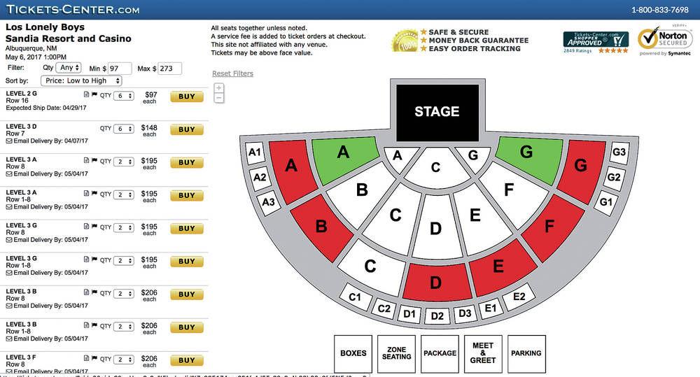 Sandia resort casino concert schedule