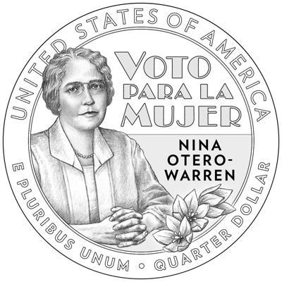 Nina Otero-Warren coin
