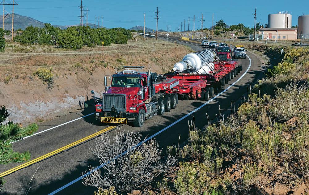Expect traffic headaches Friday as LANL's giant rotor heads through Santa Fe on way to Virginia