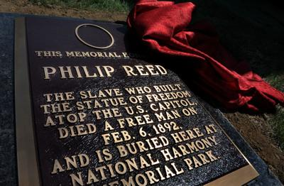 New marker honors slave who helped cast Capitol statue