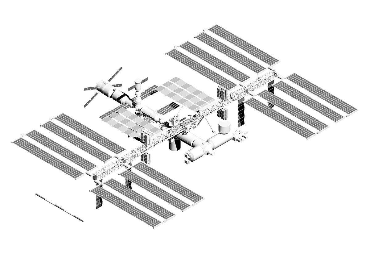 It is an image of Enterprising International Space Station Drawing