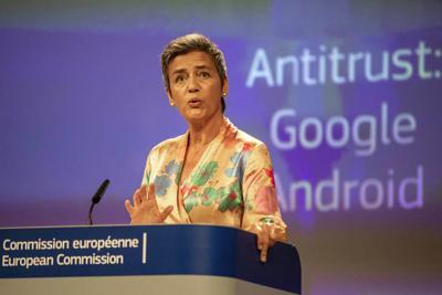 EU fines Google record $5 billion over mobile practices