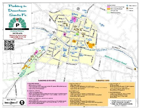 Parking Map downtown Santa Fe 2014 | Explore Santa Fe for tourists ...