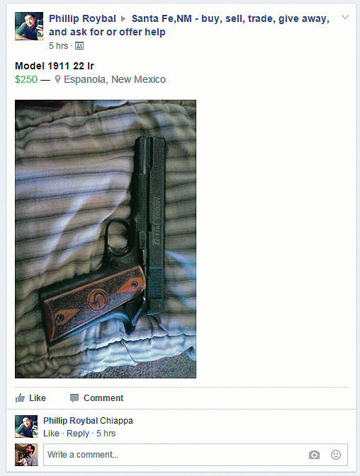 On Facebook, gun sales go unregulated