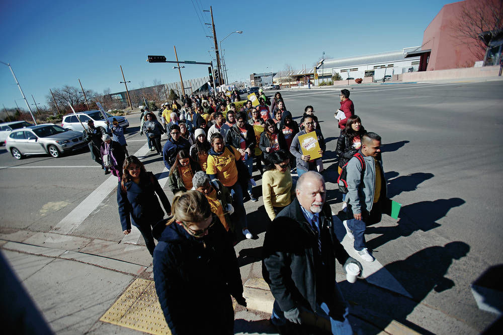 New Mexico Capitol rally focuses on workers, immigrants