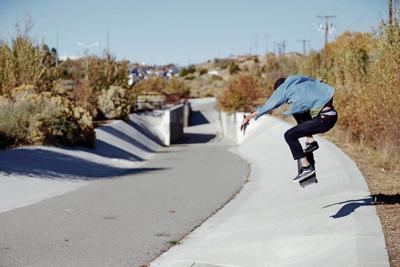 Skating in the Santa Fe sun
