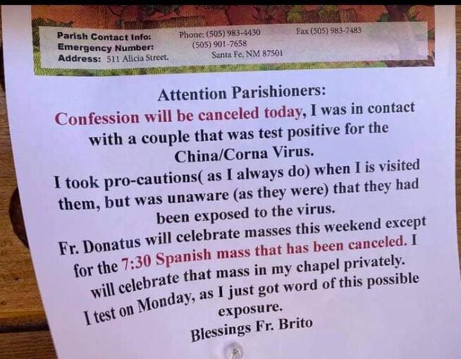 Father Brito notice