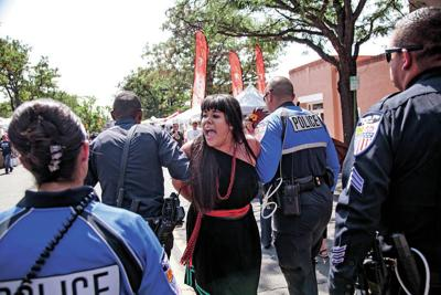 7 arrested during Entrada protest at Fiesta de Santa Fe