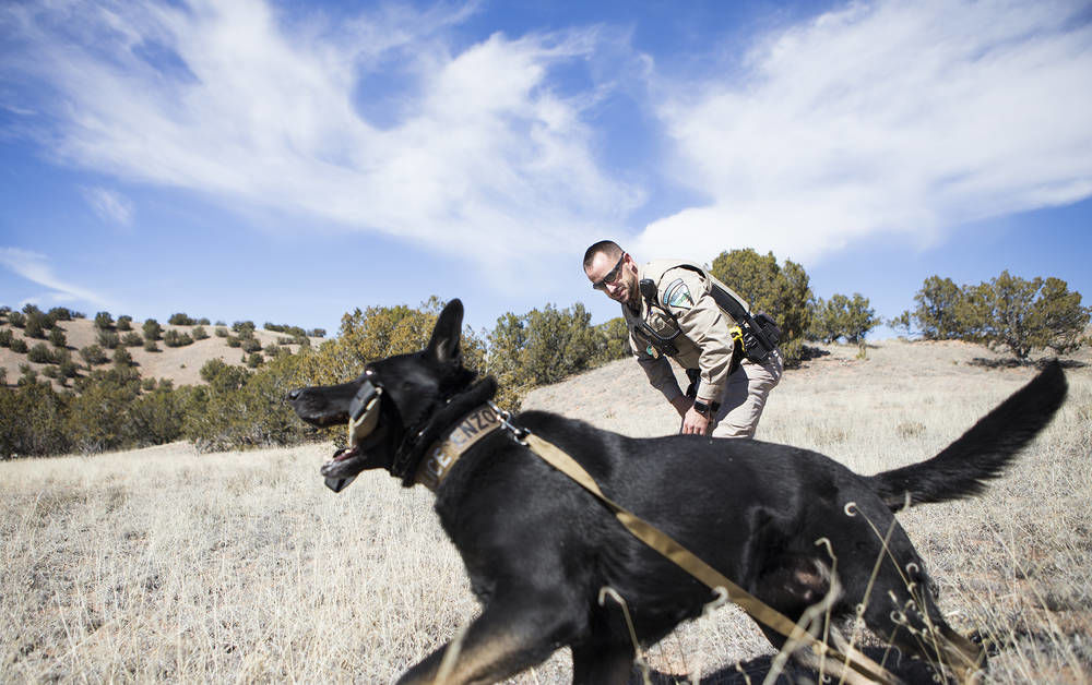 Officer, best friend patrol New Mexico federal lands